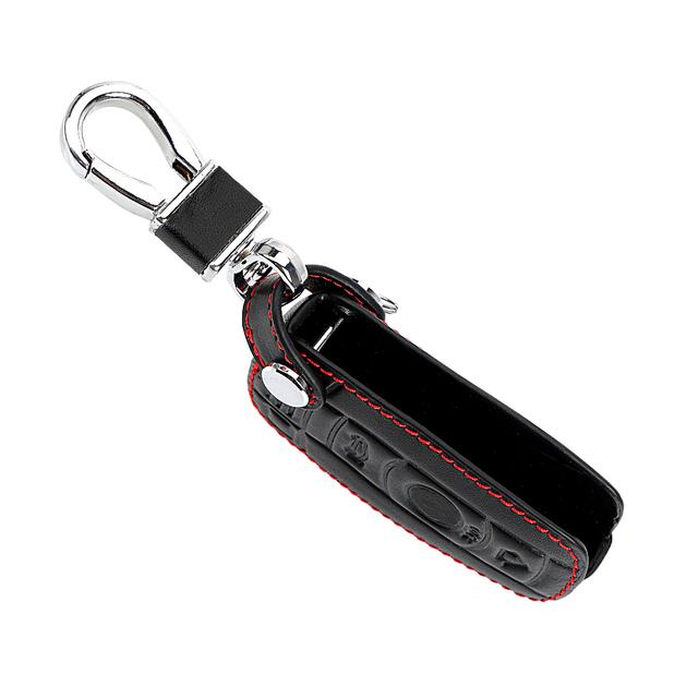 FORAUTO Car Key Case for BMW E90 E60 E70 E87 3 5 6 Series M3 M5 X1 X5 X6 Z4 KeyChain Cover Remote Controller Key Holder Leather
