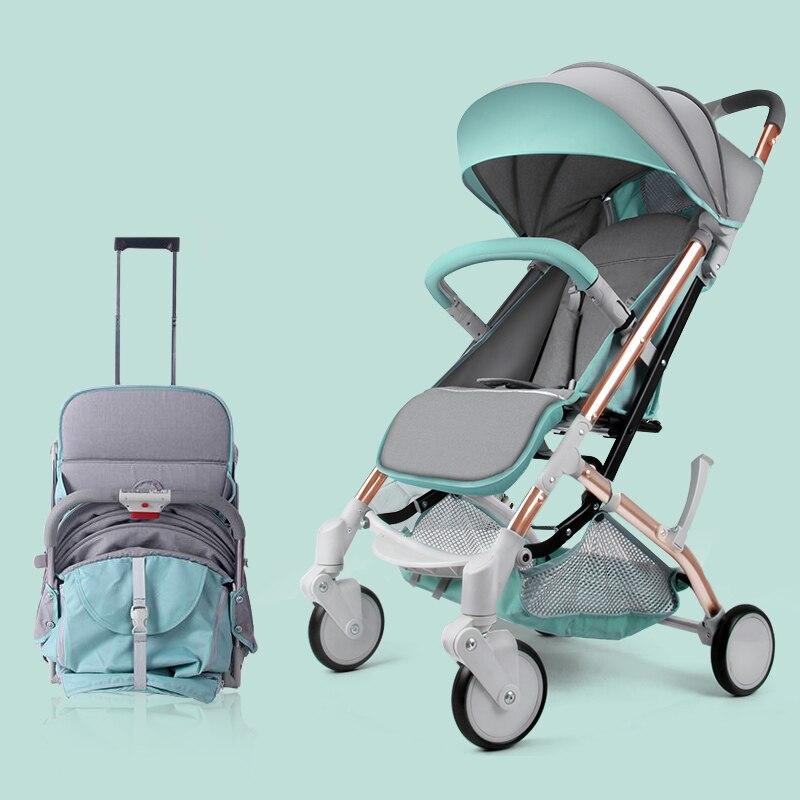 купить New Baby Lightweight Strollers Folding Portable Traveling Pram for Newborns Children Carriage Trolley kinderwagen Flax Strollers по цене 8578.56 рублей
