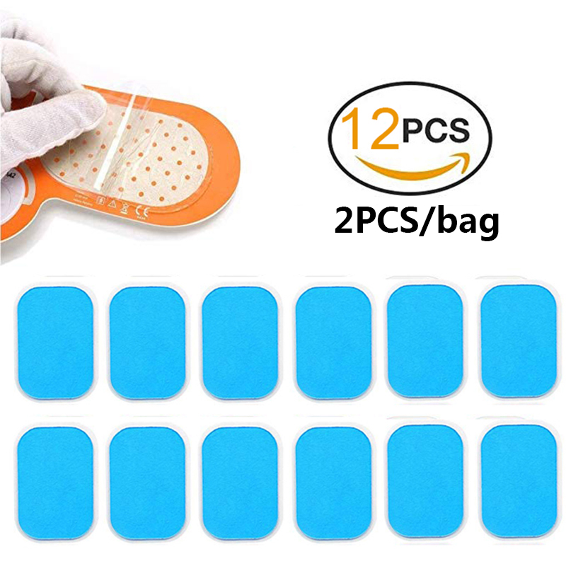 12PCS Hydrogel Sticker Patch Gel AbS EMS Abdominal Muscle Stimulator Replacement Pads Fitness Gym Body Massager Accessories