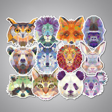 35Pcs geometry Galaxy Animal Stickers for phone stickers Mixed Funny Graffiti Decals Luggage cars DIY Laptop