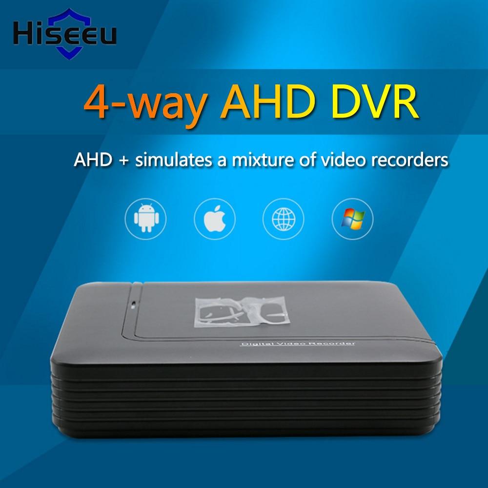 Hiseeu Surveillance Video Recorder DVR AHD 1080N 4CH Mini DVR 5IN1 For CCTV Kit 1080P IP Camera H.264 HDMI Security System 40 5 in 1 security cctv dvr 4ch ahd 1080n h 264 hybrid video recorder for ahd tvi cvi analog ip camera onvif hdmi 1080p output