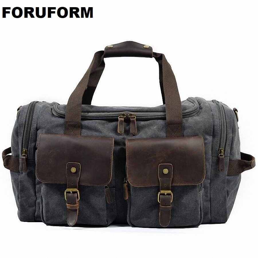Travel Bag Large Capacity Men Hand Luggage Travel Duffle Bags Canvas Weekend Bags Multifunctional Travel Shoulder Bags LI-1671 large capacity men hand luggage travel duffle bags canvas travel bags weekend shoulder bags multifunctional overnight duffel bag