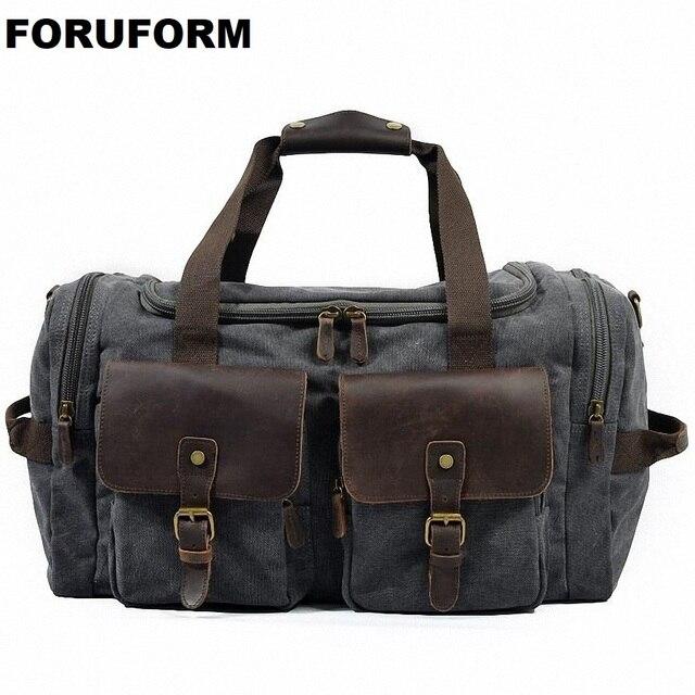 Travel Bag Large Capacity Men Hand Luggage Travel Duffle Bags Canvas Weekend Bags Multifunctional Travel Shoulder Bags LI-1671