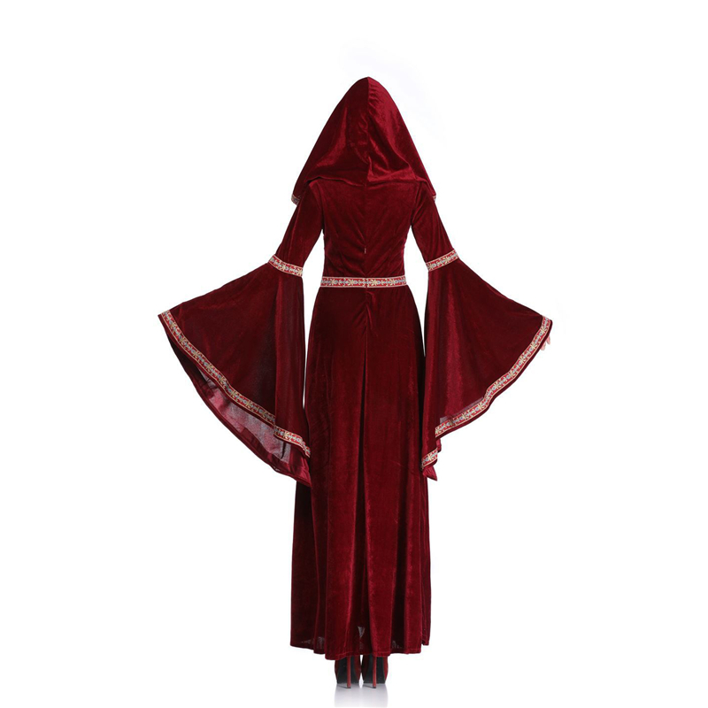 Retro Court Hooded Dress  (3)