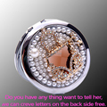 Бесплатный гравировка, bling Crystal handbag, Мини Красоты карманное компактное зеркало для макияжа макияж, свадьба bridesamid подарки подарок