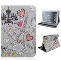 PU Материал Поддержка Дизайн Карты Держатель Защитная Крышка Чехол в форме Сердца Шаблон для iPad Air 1