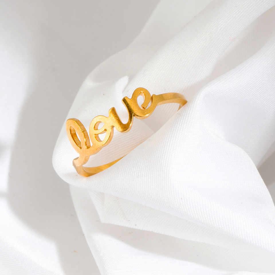 2018 NUOVA Ondata Anello Anelli di Nozze Per Le Donne Accessori Dei Monili D'oro In Acciaio Inox Anello di Fidanzamento del Vestito Delle Donne Del Partito Anello