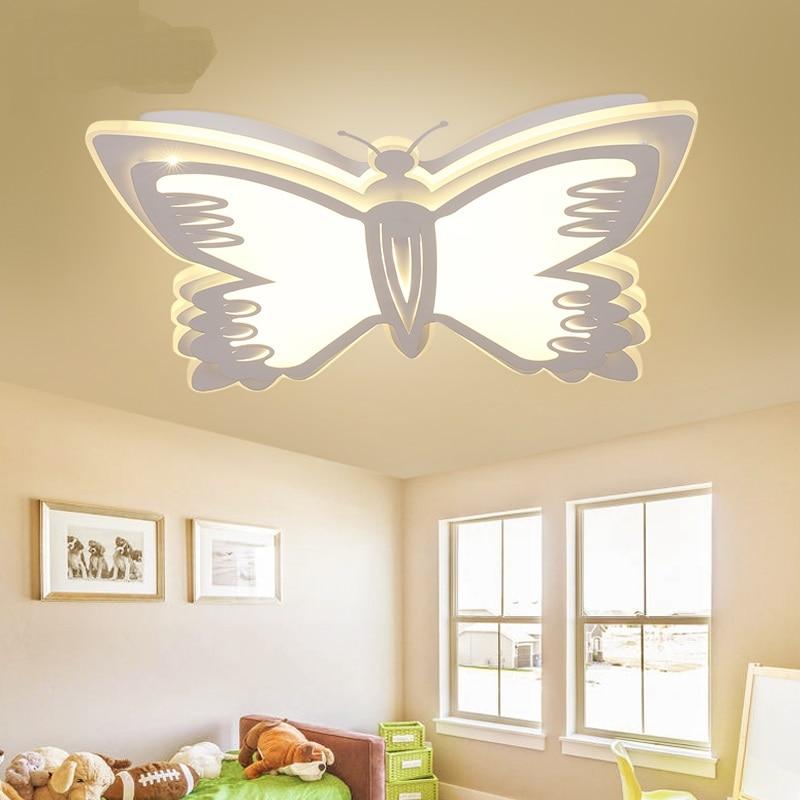 US $258.0 |Led Deckenleuchten kinderzimmer lampe schlafzimmer lampe  schmetterling cartoon kreative jungen mädchen prinzessin einfache moderne  lampe ...