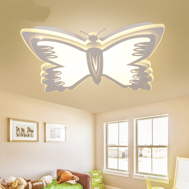 led plafond verlichting kinderkamer slaapkamer lamp vlinder cartoon creatieve jongen meisje. Black Bedroom Furniture Sets. Home Design Ideas