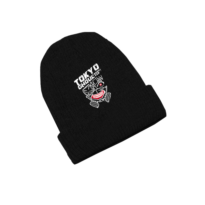 Tokyo Ghoul Kaneki Ken Anime   Skullies   Caps Knitted   Beanies   Winter Warm Hats Men Women Boys Girls Gift Elastic