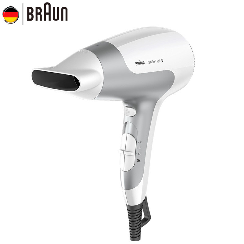 Braun Hair Dryer Unfoldable Handle Electric Anion Ultra Quiet Fast Drying Sleek and Stylish Design Hair Protector HD580 dryer pet dog professional hair dryer ultra quiet high power stepless regulation of the speed drying machine 2400 w