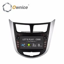 Ownice C500 Android CAR DVD player for Hyundai Solaris accent Verna i25 2011 2012 2013 2014 2015 2016 2017 GPS BT radio wifi 4G