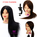 """20"""" 100% Real Hair Cosmetology Mannequin Head Dummy Hair Practice Model Training Head With Clamp 2 Color Available B40"""