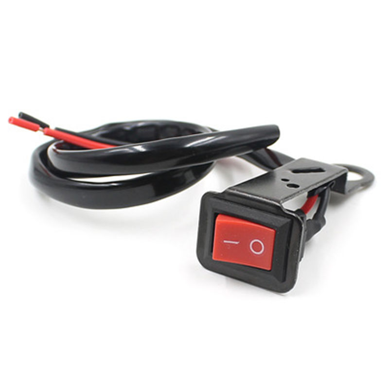 Electric Cars Motorcycle Switch Black Waterproof Plastic+Metal+Copper DC12V-24V