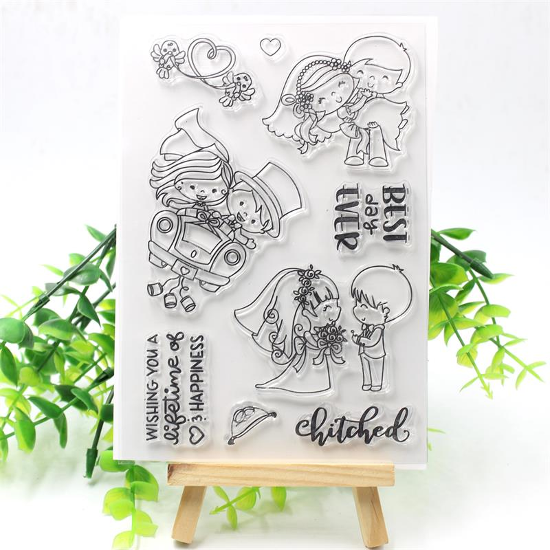 KSCRAFT Best Day Ever Transparent Clear Silicone Stamp/Seal for DIY scrapbooking/photo album Decorative clear stamp 297 image
