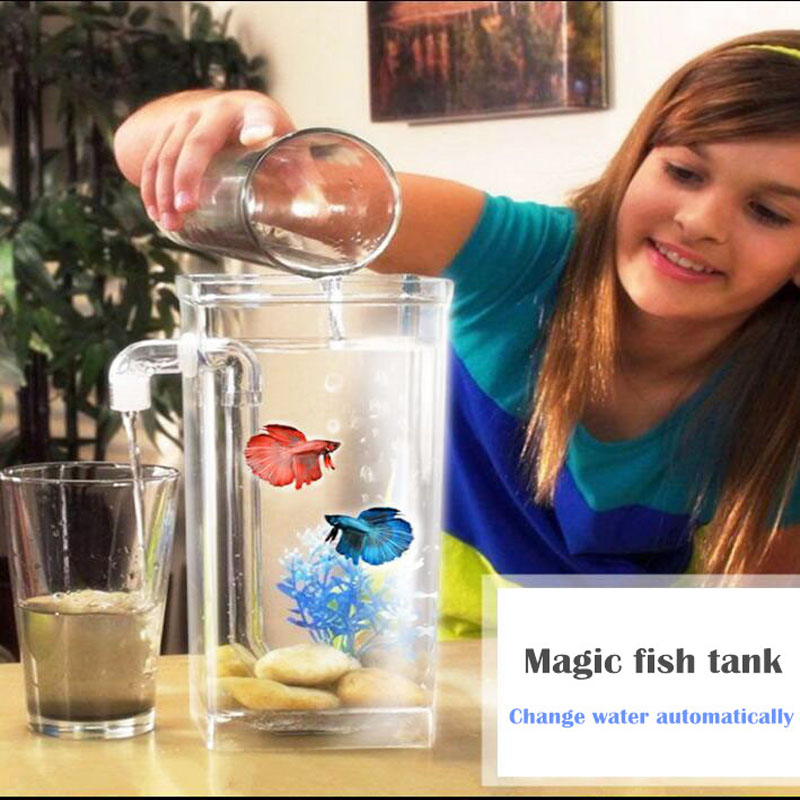 Popular small fish tanks buy cheap small fish tanks lots for How to change fish tank water