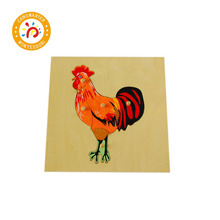 Montessori Baby Kids High-Quality Wooden Animal and Plant Panels competition panels and diagrams
