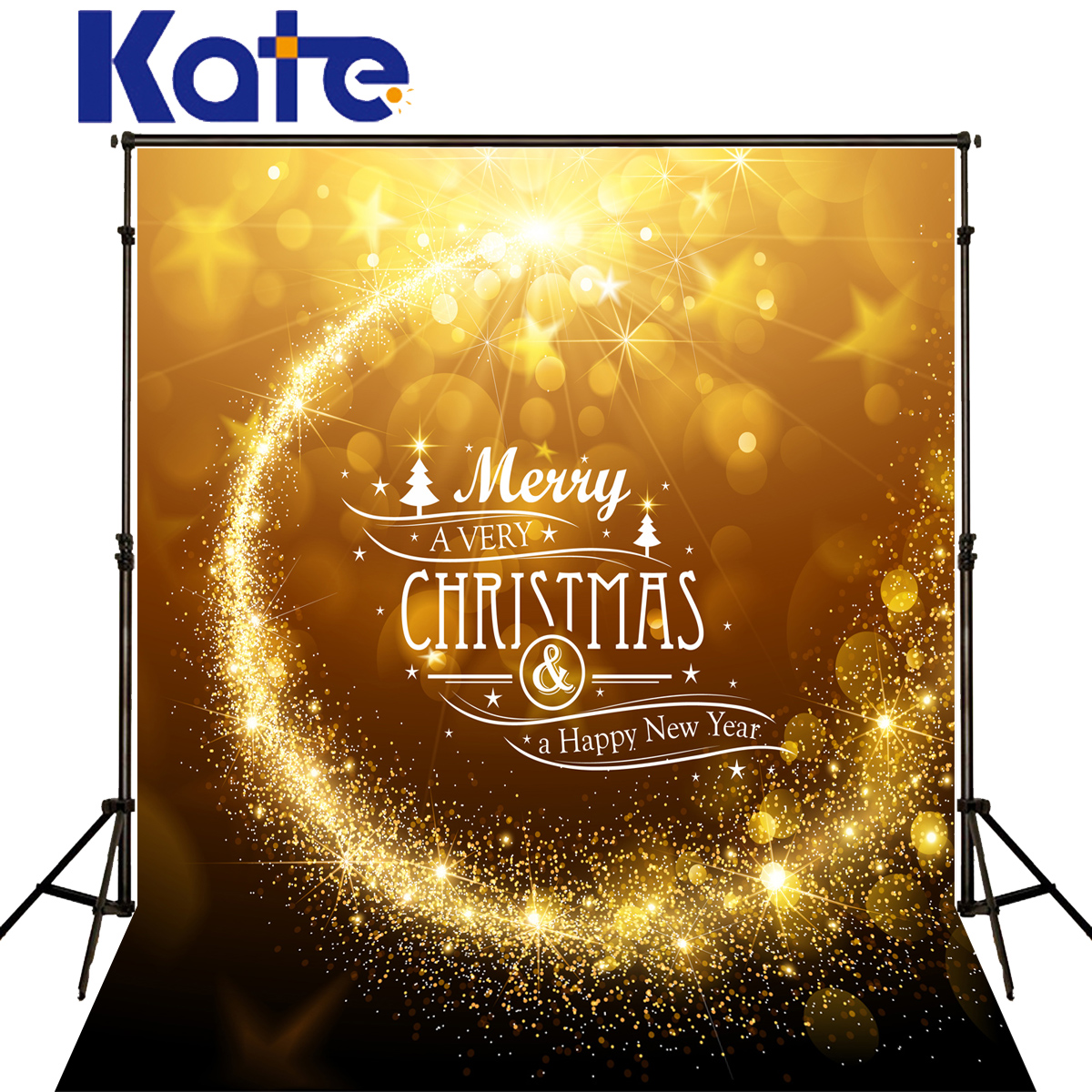 KATE Happy New Year Backdrop Christmas Backdrops Background Photography Gold Sunshine Kids Glitter Background for Photo Studio