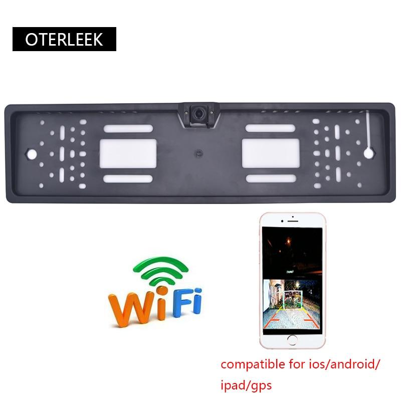 OTERLEEK WIFI Câmera de Visão Traseira Da Placa de Licença Wifi Back Up Camera para ipad para iPhone e Android Do GPS Do Carro