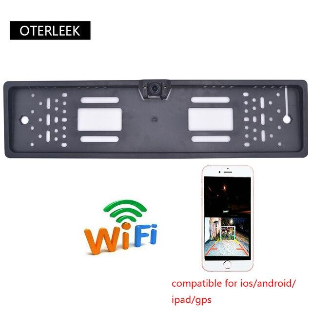 OTERLEEK WIFI רישיון צלחת אחורית מצלמה Wifi לגבות מצלמה עבור ipad עבור iPhone אנדרואיד רכב GPS