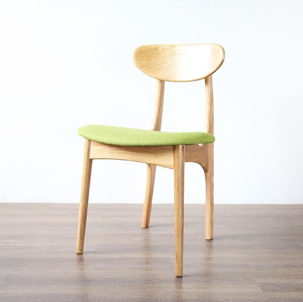 Yingyi free shipping modern wood dining chair without arms for Modern yellow dining chairs