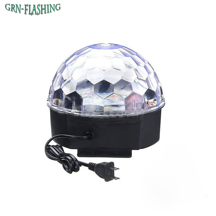 LED RGB Crystal Magic Ball Stage Effect Light Auto Rotating Voice Activated DJ Club Bar Disco Party Lighting For KTV Xmas Party lumiere rgb led stage effect lighting 30w auto sound magic ball disco lighting shower laser projector party dj club magic lamp