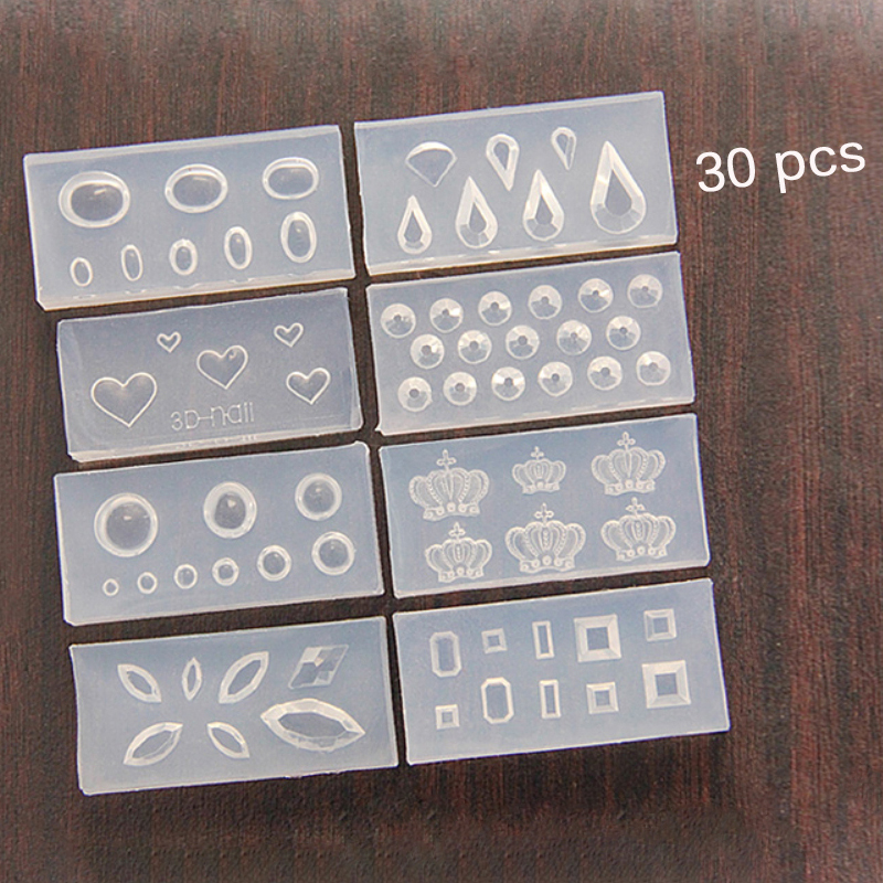 30pcs model 3d nail art silicone mold fashion durable 3d acrylic 30pcs model 3d nail art silicone mold fashion durable 3d acrylic mold for nail art decoration design 3d silicone mould in nail art templates from beauty prinsesfo Images