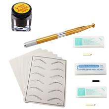 Tattoo Kits Microblading Permanent 3D Makeup Eyebrow Tattoo Ink Needle Pen Pigment Kit