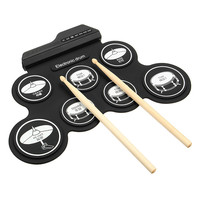 Hand Roll USB Electronic Drum Portable Practice Folded Silicone Massive Files Professional Entry Level Electronic Drums