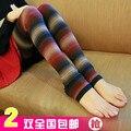 2 inverno dupla espessamento das mulheres fino tarja meias de lã térmica meias passo meias de pé feminino