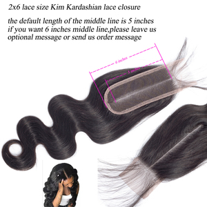 Image 5 - Queenlike mechones de ondas corporales con cierre de Kim Kardashian, cabello brasileño ondulado no Remy, 4 extensiones de cabello humano mechones con cierre