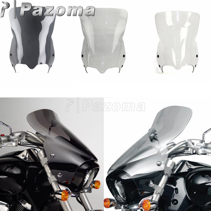 Motorcycle Windscreens Protector Windshield Deflectors without Mount Brackets For Suzuki Boulevard M109R Boss M50 M90 2006