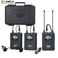 Comica CVM WM200 A 96 Channel UHF Wireless Lavalier Microphone System for Canon Nikon DSLR Camera,XLR Camcorders & Smartphones