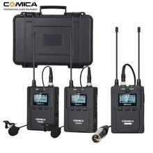 نظام ميكروفون لاسلكي من شركة Lavalier ، ميكروفون لاسلكي ذو طية صدر السترة CVM WM200 UHF لكاميرا DSLR ، كاميرا فيديو XLR