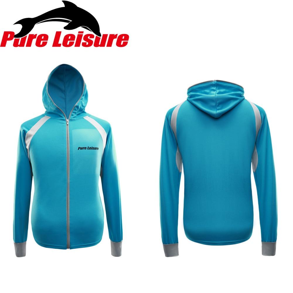 PureLeisure 2018 New Brand Fish Shirt Sports Coat Fishing Long Sleeve Clothes Ice Fishing Clothing Anti UV Fishing Accessories