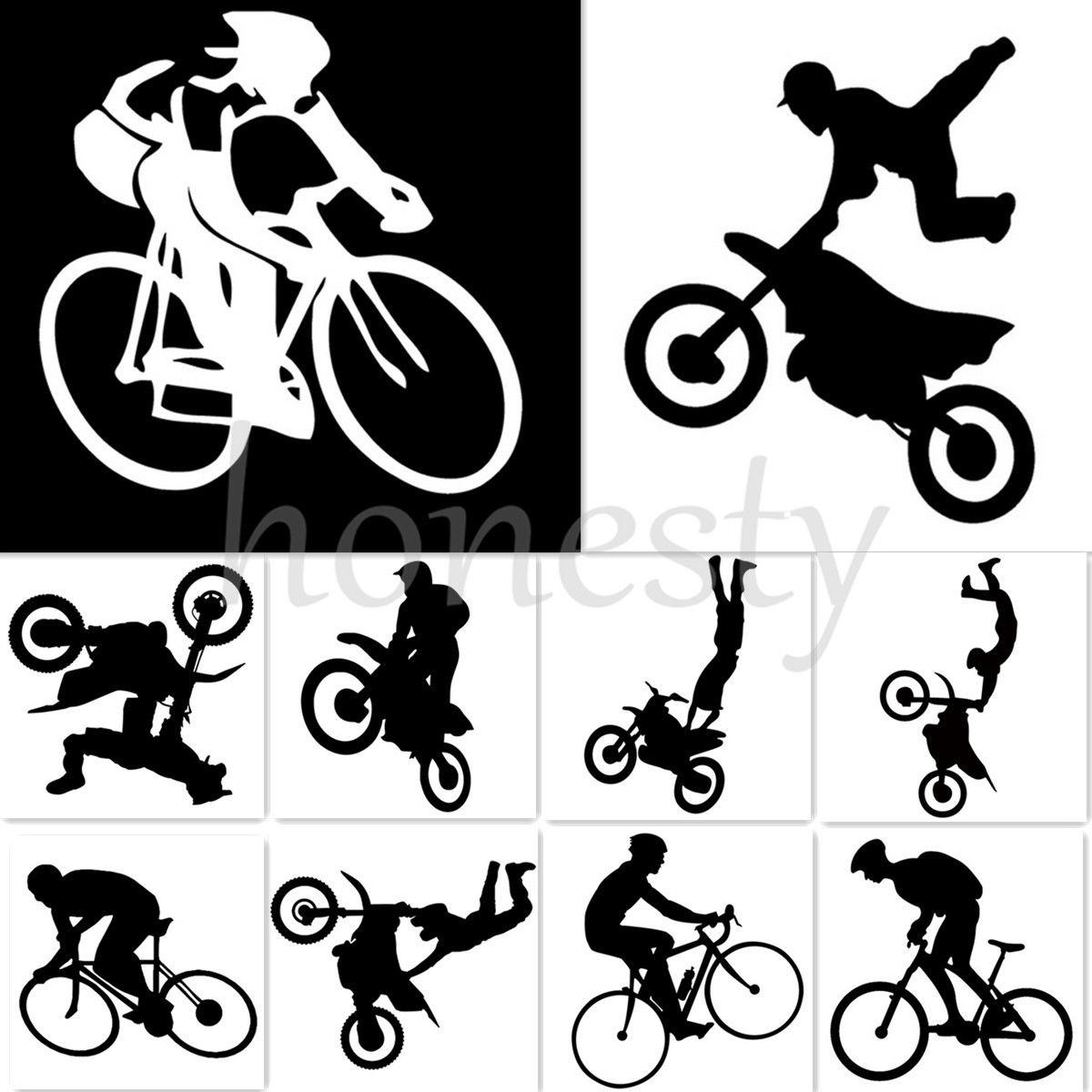 Bike stickers design online - Freestyle Motocross Cycling Bike Sports Car Window Bumper Laptop Wall Sticker China Mainland