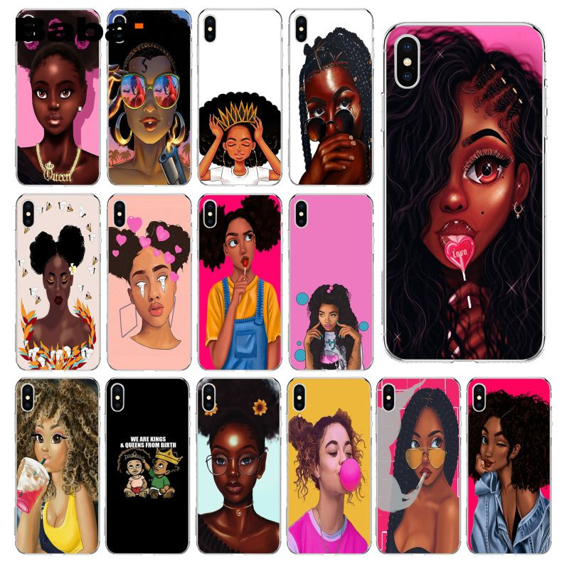 Babaite African Beauty Girl TPU Soft Silicone Phone Case Cover For IPhone 8 7 6 6S Plus