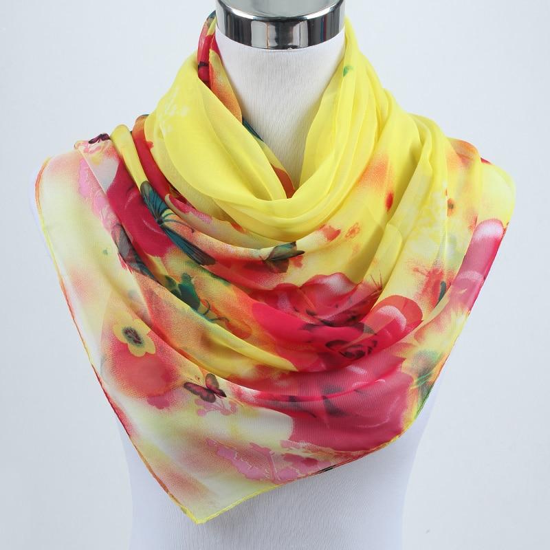 New arrival Fashion Soft Thin Chiffon Silk Scarf Wos