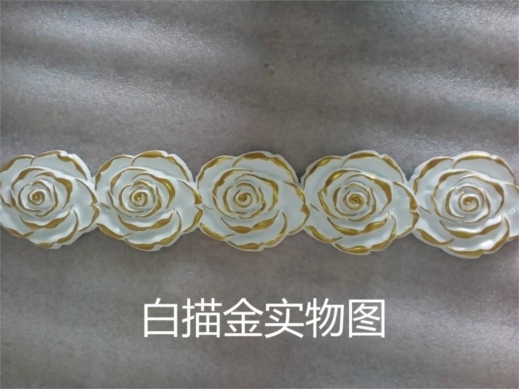 ФОТО Soft curved lines decorative backdrop for furniture ceiling molding 5.5cm x 0.7cm x 300cm
