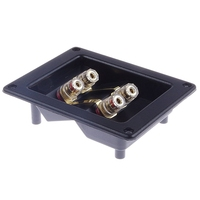 DIY Home Car Stereo Screw Cup Connectors Subwoofer Plugs 4 Way Speaker Square Box Transparent Terminal Binding Post Pure copper|Connectors| |  -