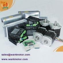 (EUA Navio & Promoção, Super Oferta) 4 Eixos Nema 34 Wantai Stepper Motor 1232oz-in, 5.6A, CNC 3D wantaimotor Miller, cortador