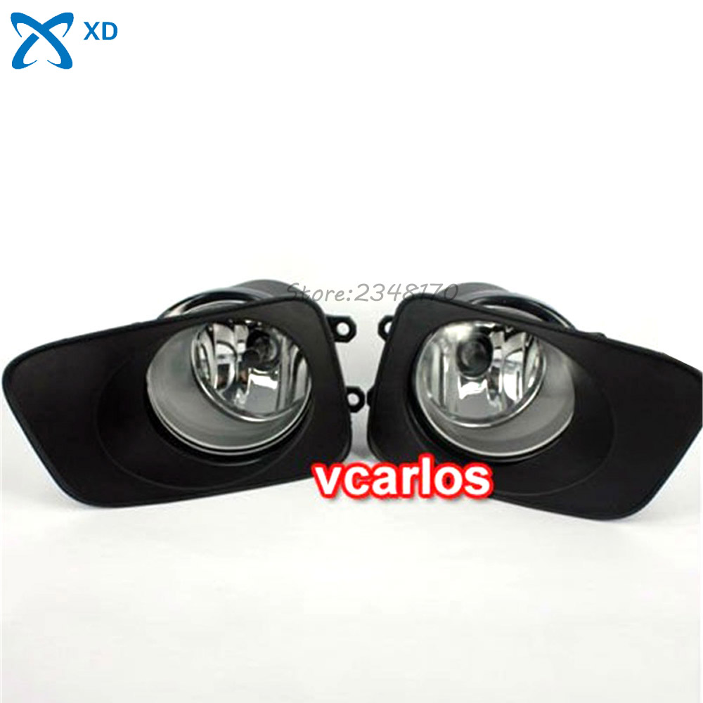 Fog Light Set Fog Lights Lamp For Toyota Corolla Fielder Corolla Axio 2007~ON Corolla 2010 Clear Lens Pair Set With Wiring Kit bqlzr dc12 24v black push button switch with connector wire s ot on off fog led light for toyota old style