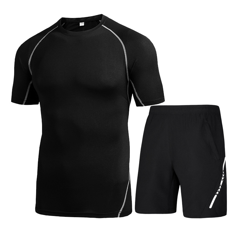 74a713f588 Summer Quick Dry Sportswear Compressed Gym Clothing Stretchy Black Sport  Clothes Men Shorts Costume For Running Plus Size M 3XL-in Running Sets from  Sports ...