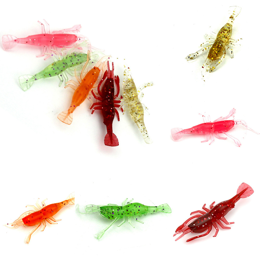 5pc light soft bait transparent shrimp lures nightlights angling wobbler lures 2017 New Attractive Fishes Nearby Apr19