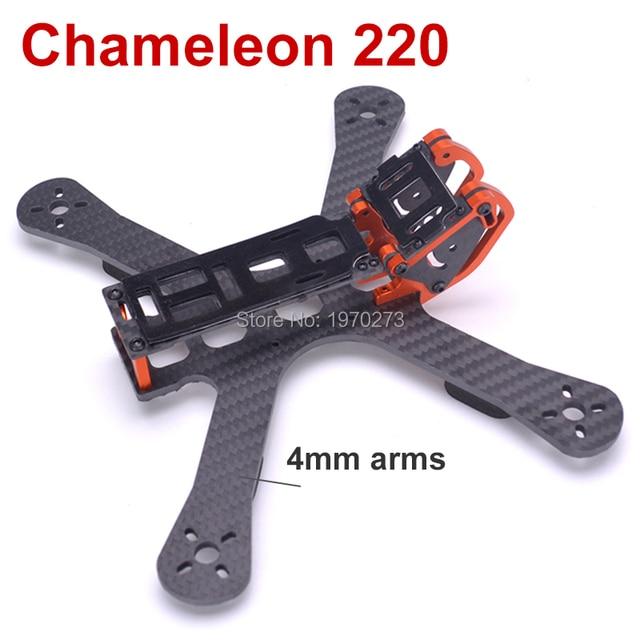 """Chameleon FPV Cornice 5 """"220 millimetri FPV Freestyle Quad Unibody Telaio FPV Da Corsa Drone Per Chameleon QAV X QAV R 220"""