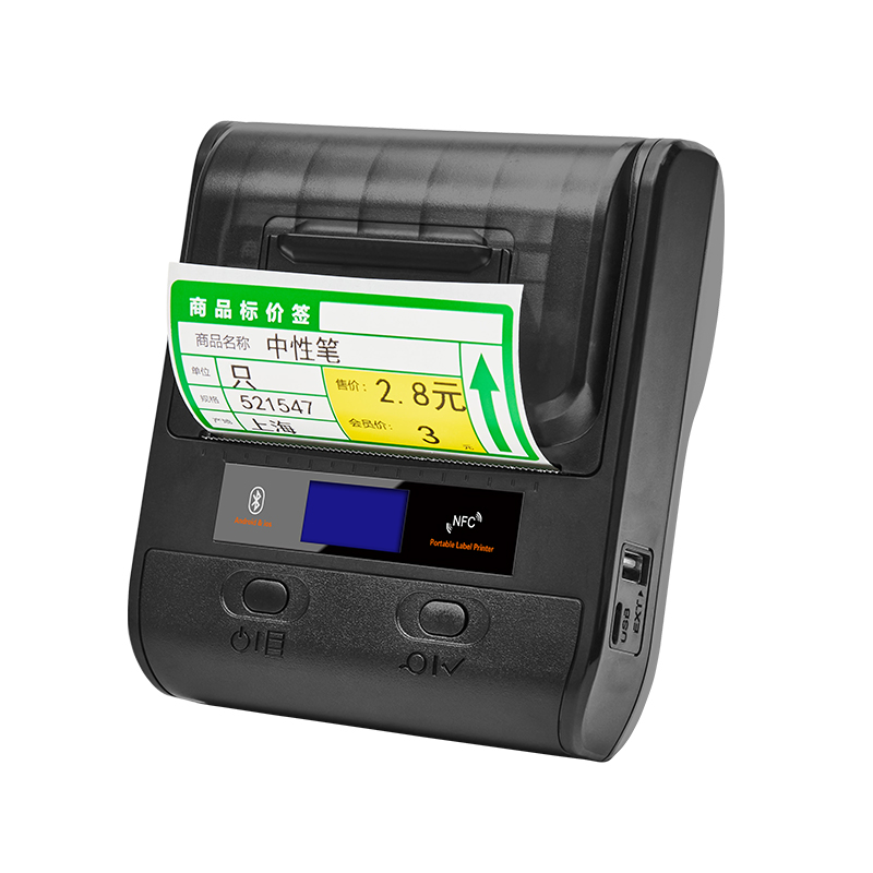 58 80mm Portable Bluetooth Thermal Printer Mobile Label Printer POS Barcode Maker Wireless Printing For Android