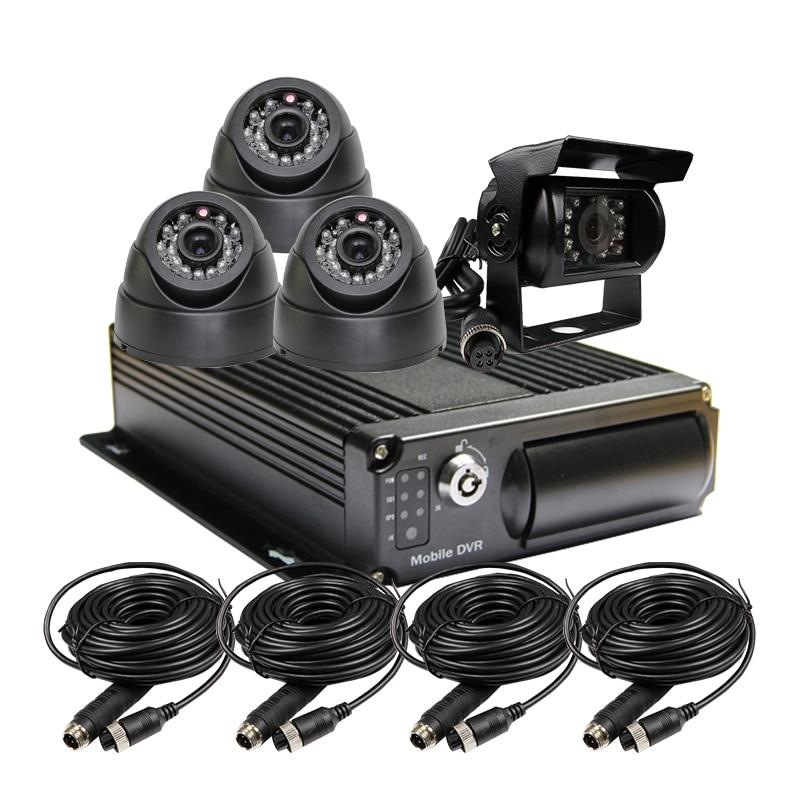 4 Channel 256G SD Car Vehicle DVR MDVR Video Recorder Kit font b CCTV b font