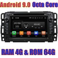 WANUSUAL Android 9.0 Car GPS Navigation For GMC Yukon Tahoe 2007 2008 2009 2010 2011 2012 DVD Player Audio Octa Core 64G 4G RAM