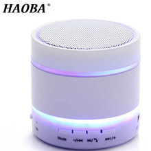 HAOBA Wireless LED Speaker Outdoor Portable Mini Stereo Bluetooth Support TF Card U Disk For Phone