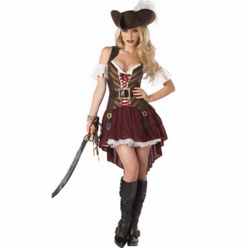 New hot Cosplay Lovers Womens California Rogue Pirate Costume For Halloween Party Masquerade Dress Show
